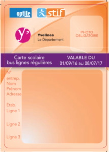 Carte Accord Tarif.La Carte Scolaire Bus Conseil Departemental Des Yvelines