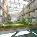 © cabinet ADA Architecture - Vue intérieure de l'atrium du futur collège