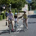Reportage sur des cyclistes en milieu urbain