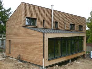 Construction de la première maison passive de France
