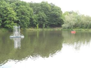 installation d'hydroliennes sur l'étang des Roussières