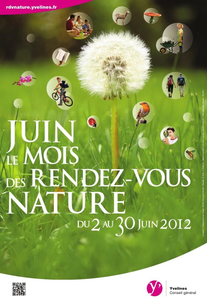 Affiche des Rendez-vous nature 2012