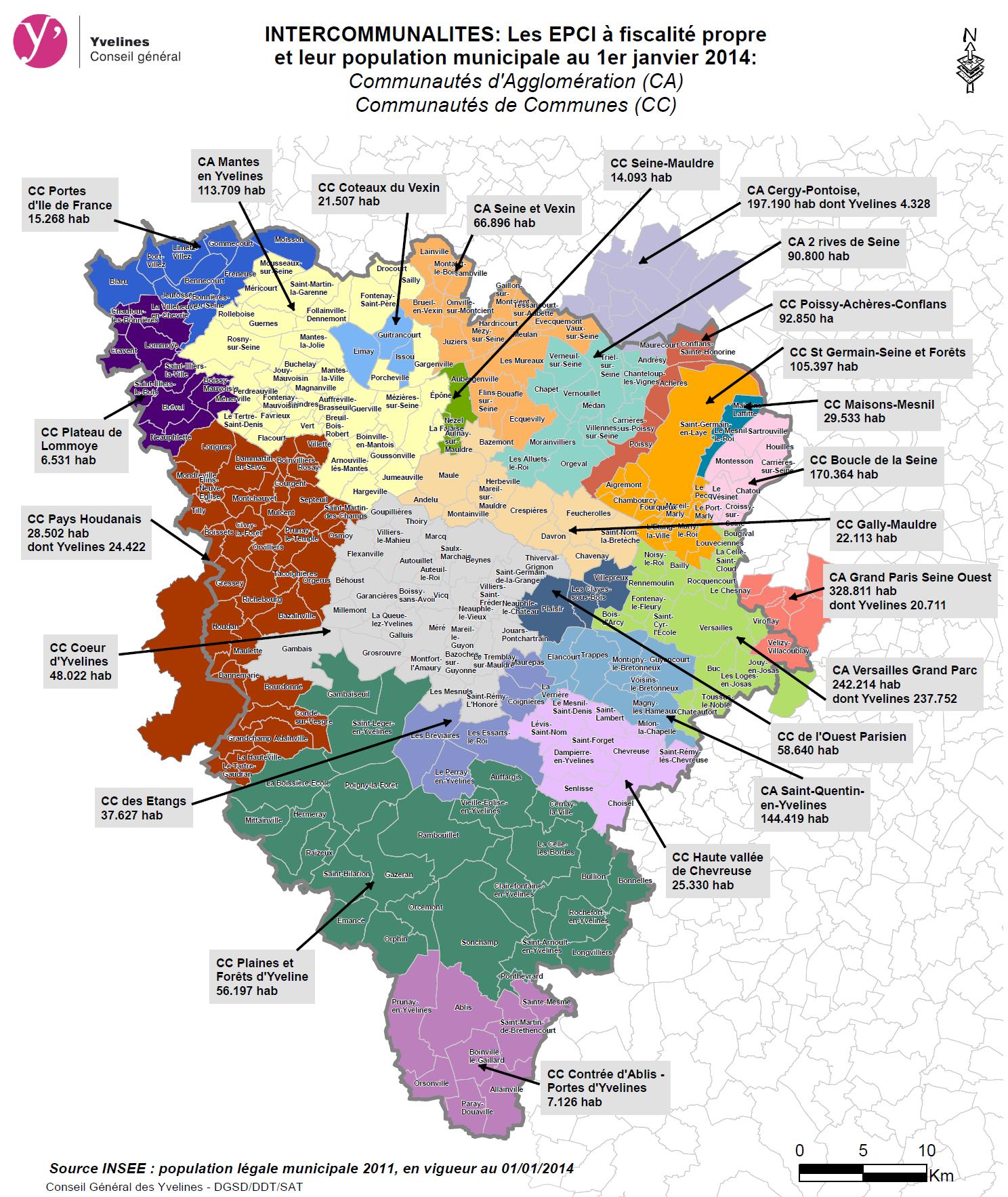 La nouvelle carte des intercommunalit s yvelines infos for Que visiter dans les yvelines