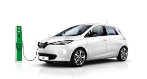 Renault ZOE en action de charge