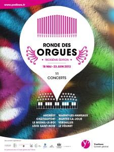 Affiche Ronde des Orgues 2013
