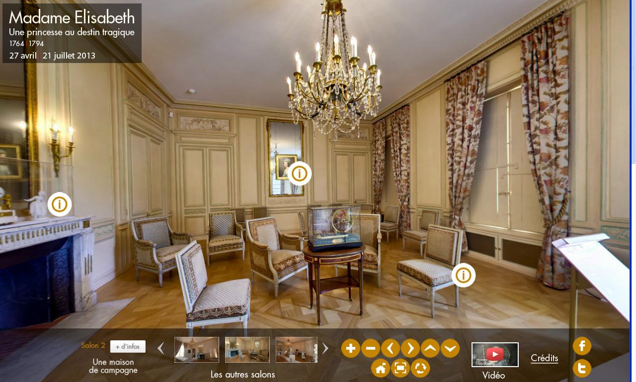 Visite virtuelle de l 39 exposition de madame elisabeth for Visite gratuite dans les yvelines