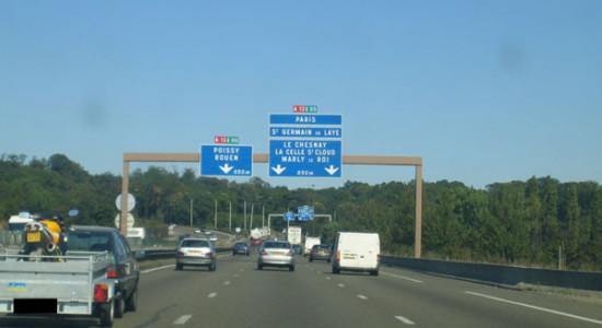 L'autoroute A12.