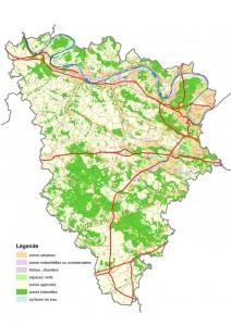 Carte : Occupation des sol dans les Yvelines (2008)