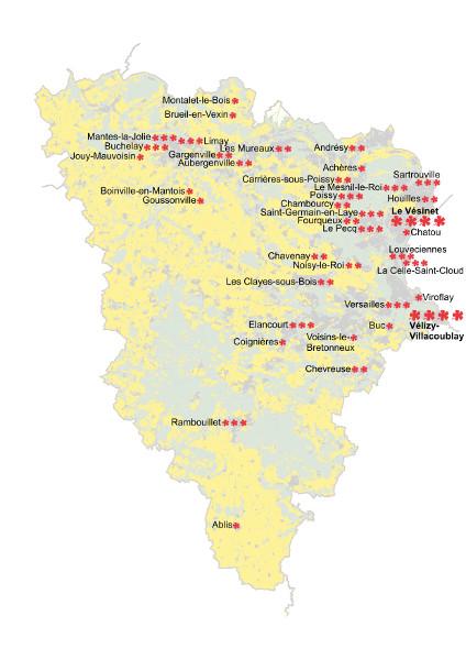 Evolution et organisation du label villes et villages for Villes des yvelines