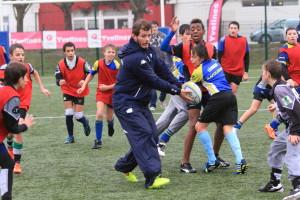 Rugby Racing au collège de Plaisir