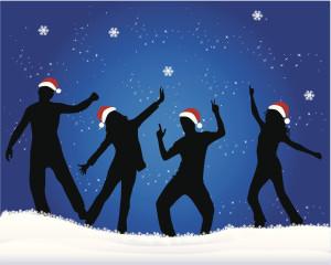 Illustratin college Noel promotion danse musique bilangue