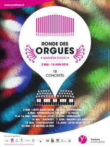 Affiche ronde des orgues