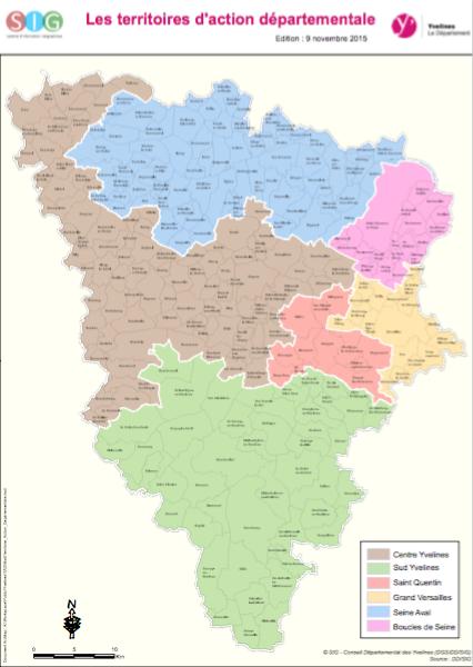 Les territoires d'action sociale