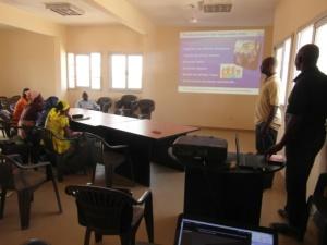 Les participants réunis pour la formation
