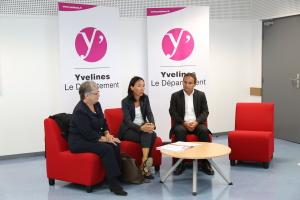 Cécile Dumoulin, Vice-présidente au Conseil départemental déléguée aux collèges et Josette Jean, Conseillère départementale.