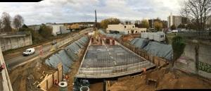 Futur bassin d'assainissement enterré en lisière du quartier du Valinout