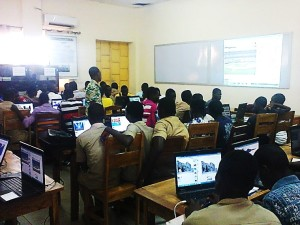 Les élèves du LETP d'Aného lors de la session d'initiation au code