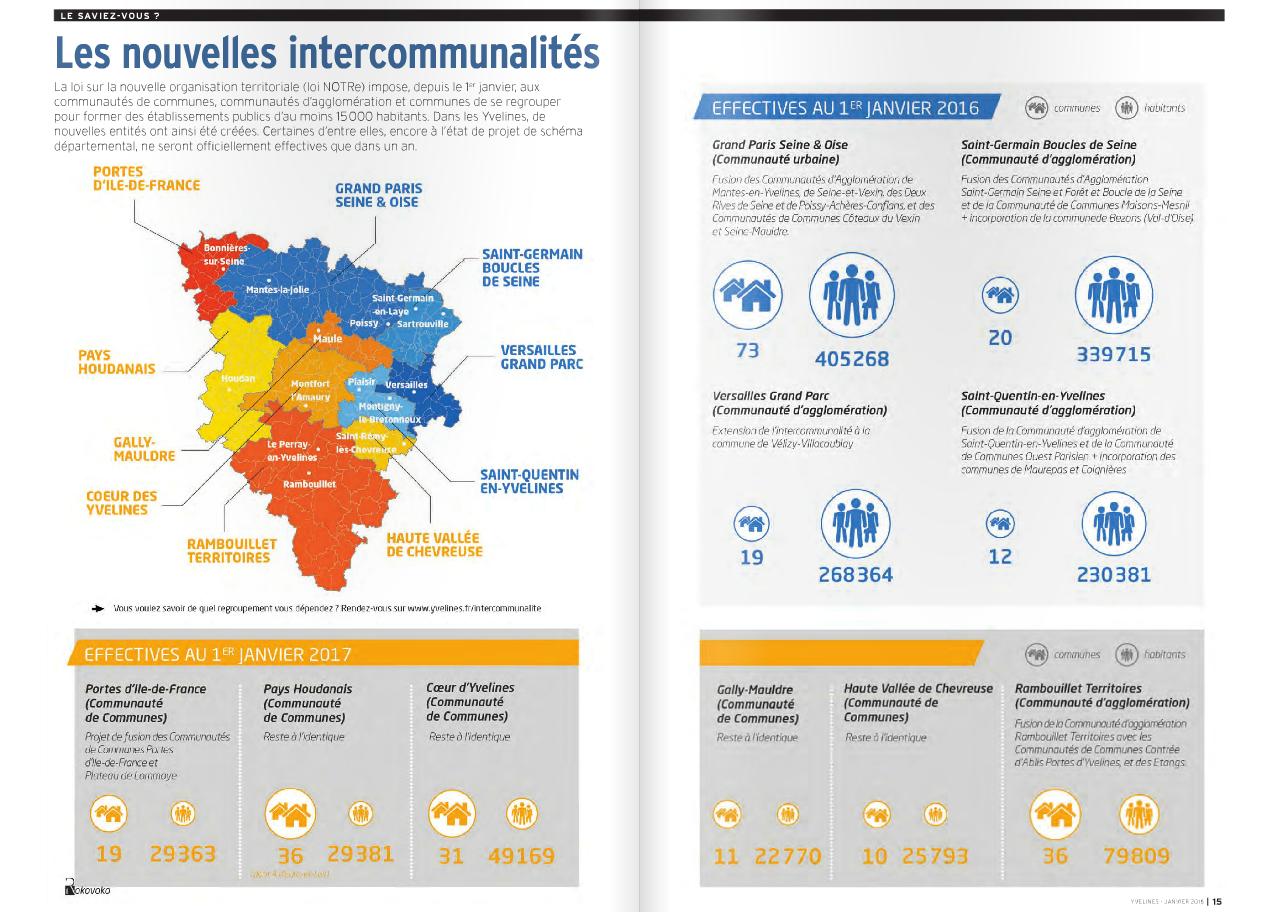 La carte des nouvelles intercommunalit s yvelines infos for Visite gratuite dans les yvelines