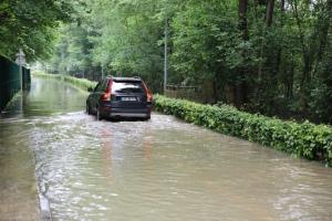 Plusieurs routes dans la Vallée de la Mauldre et la Vallée de Chevreuse (ici à Chevreuse) sont encore inondées.