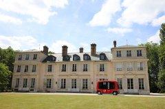 La navette autonome de Transdev au Domaine de Madame Elisabeth, à Versailles © CD78 / N.Duprey