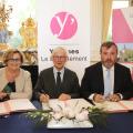 De gauche à droite : Joséphine Kollmannsberger, Olivier de Rohan Chabot, Philippe Benassaya © CD78 / N.Duprey