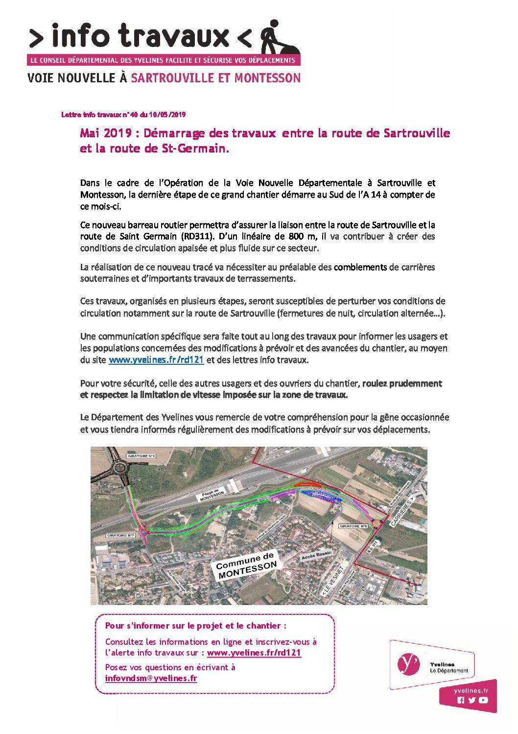 Lettre info Voie Nouvelle n°40 - Mai 2019 Démarrage des